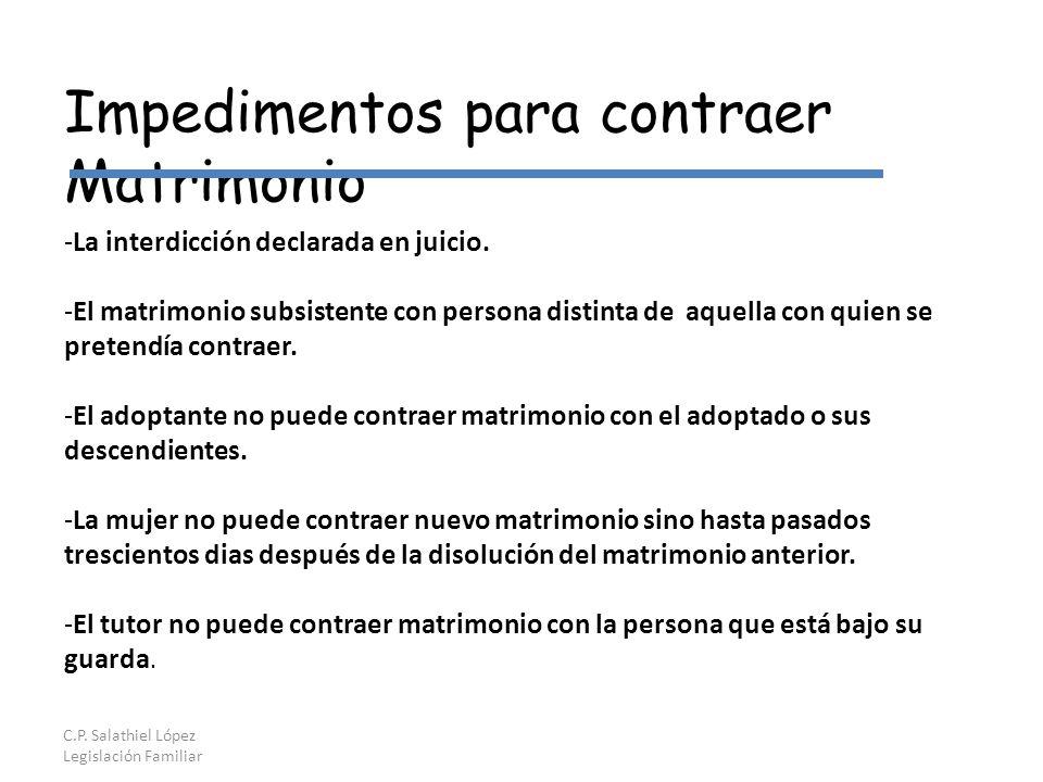 C.P. Salathiel López Legislación Familiar -La interdicción declarada en juicio.
