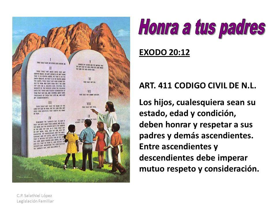 C.P. Salathiel López Legislación Familiar EXODO 20:12 ART.