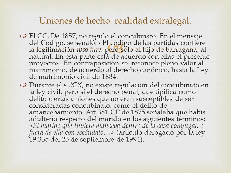   El CC. De 1857, no regulo el concubinato.