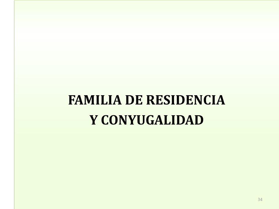 FAMILIA DE RESIDENCIA Y CONYUGALIDAD FAMILIA DE RESIDENCIA Y CONYUGALIDAD 34