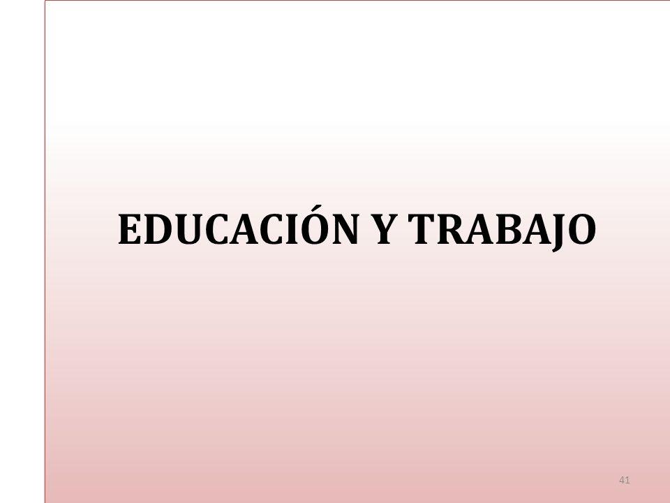 EDUCACIÓN Y TRABAJO 41