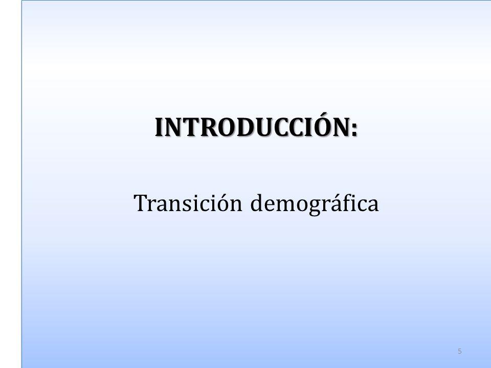INTRODUCCIÓN: Transición demográficaINTRODUCCIÓN: 5
