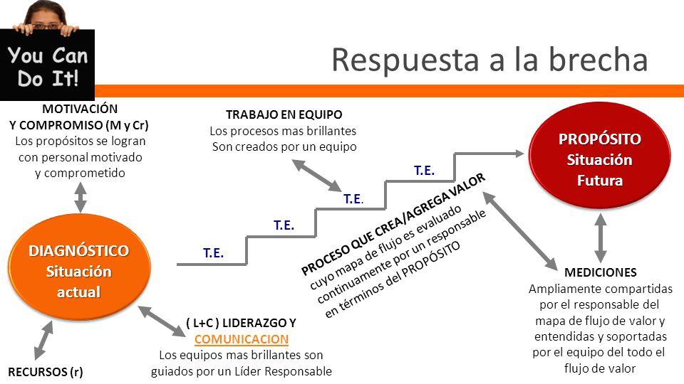 La brecha PROPÓSITOSituaciónFutura DIAGNÓSTICOSituaciónactual Brecha ¿Cuánta cantidad.