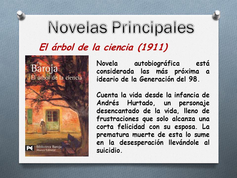 El árbol de la ciencia (1911) Novela autobiográfica está considerada las más próxima a ideario de la Generación del 98.