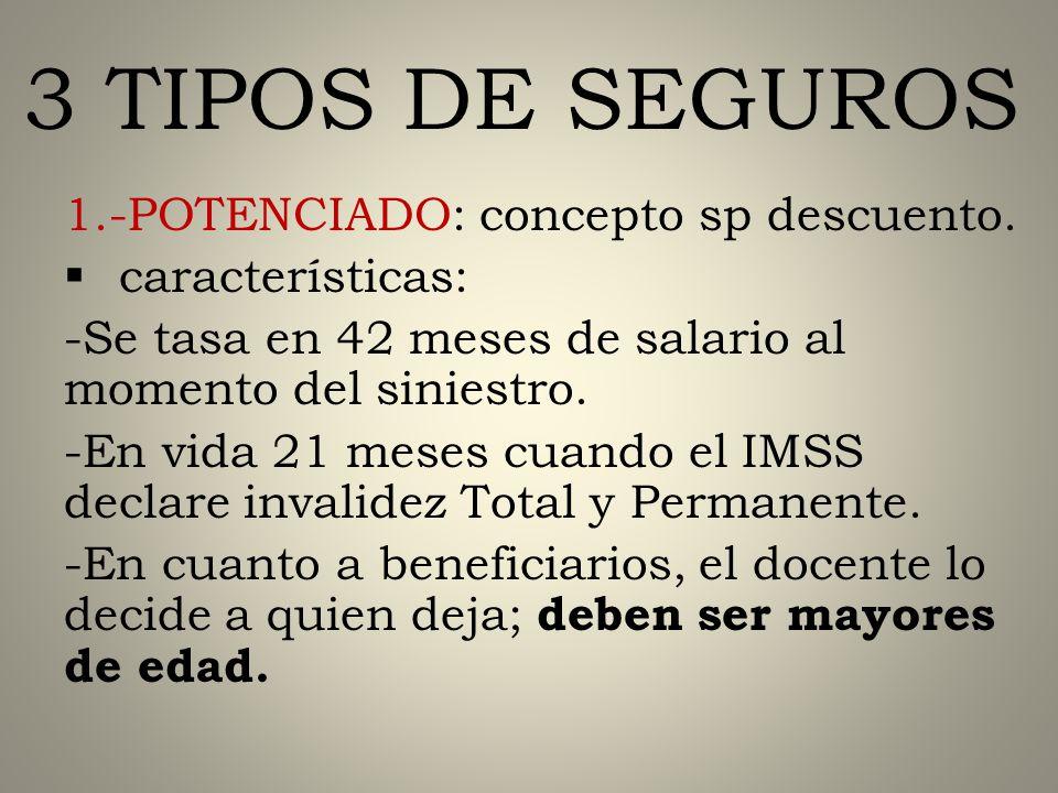 SEGUROS DE VIDA TELESECUNDARIAS COMISIONADOS PROFR.