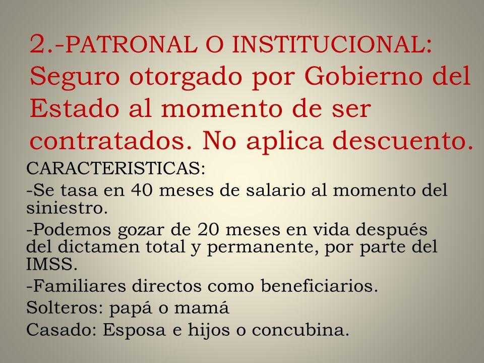 3 TIPOS DE SEGUROS 1.-POTENCIADO: concepto sp descuento.
