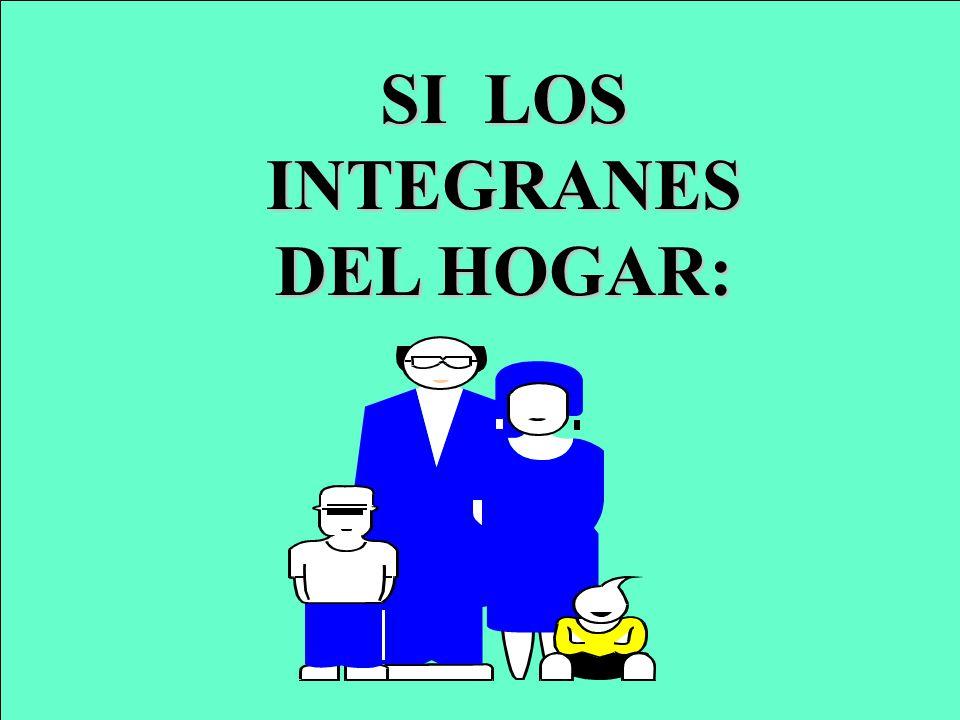 SI LOS INTEGRANES DEL HOGAR: