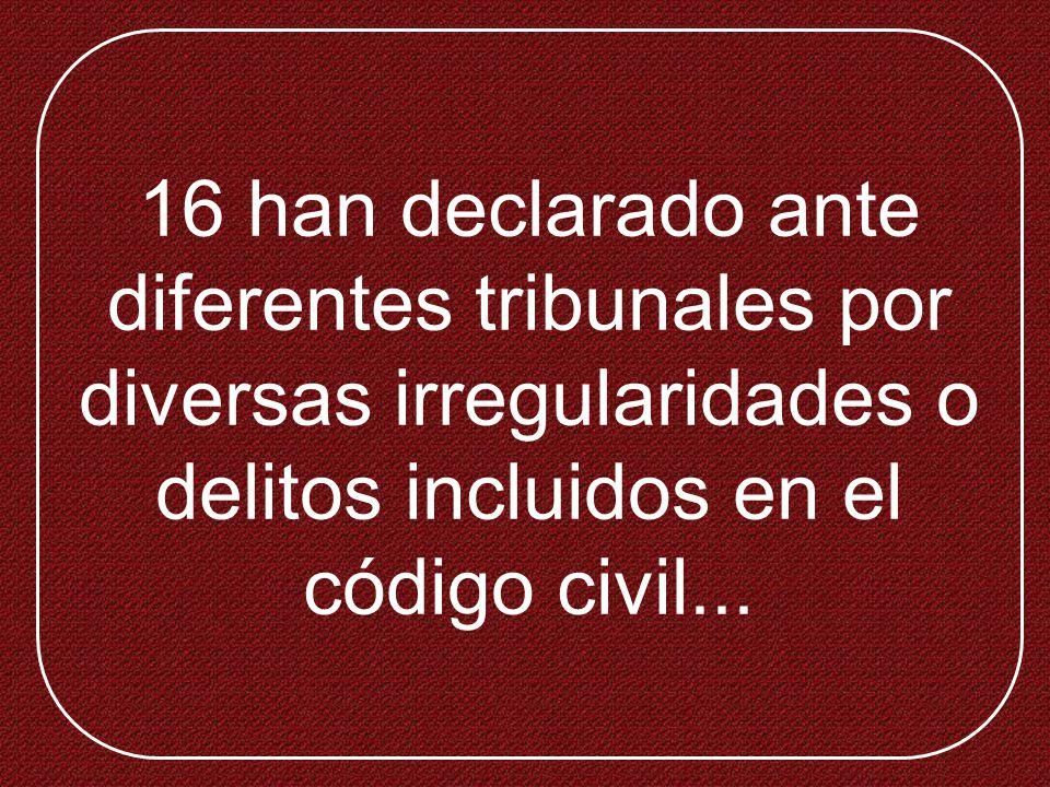 35 han participado, directa o indirectamente en bancarrotas empresariales o quiebras fraudulentas...