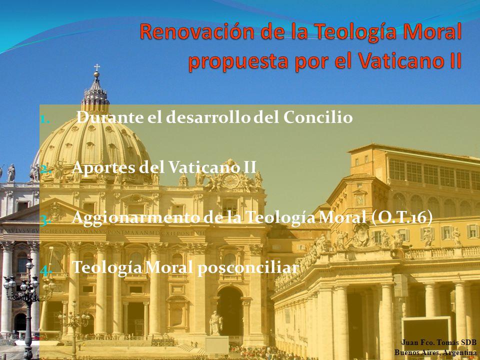 1. Durante el desarrollo del Concilio 2. Aportes del Vaticano II 3.