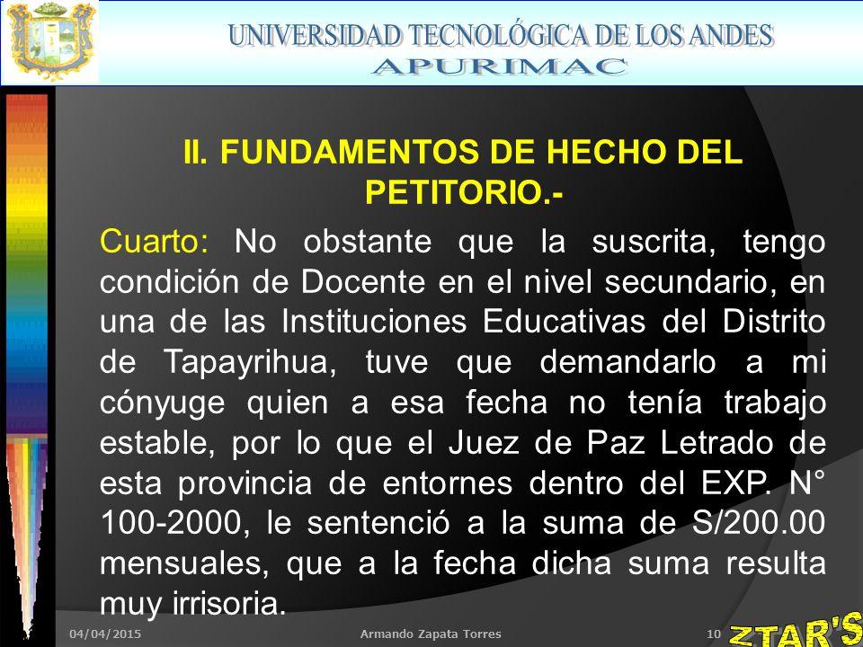 04/04/2015Armando Zapata Torres10 II.