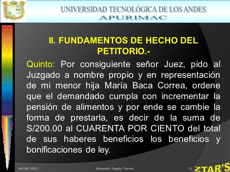 04/04/2015Armando Zapata Torres11 II.