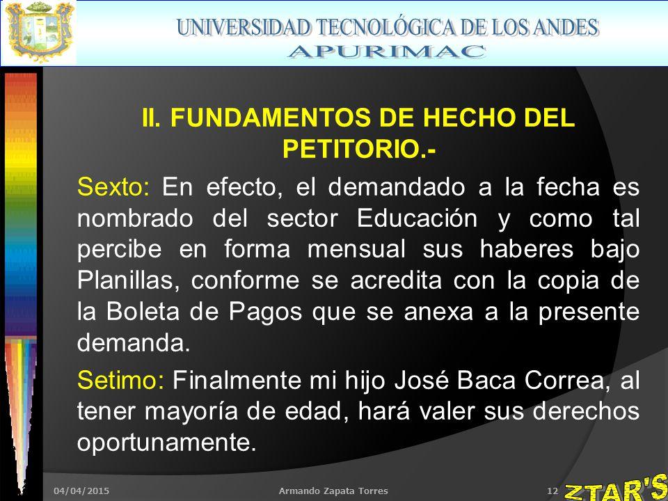 04/04/2015Armando Zapata Torres12 II.