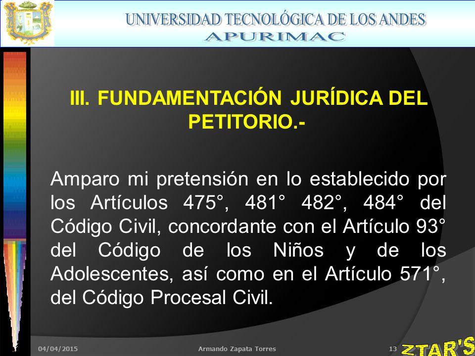 04/04/2015Armando Zapata Torres13 III.