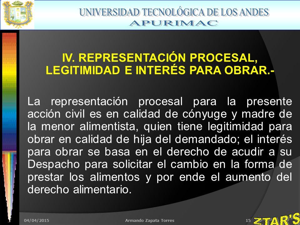 04/04/2015Armando Zapata Torres15 IV.