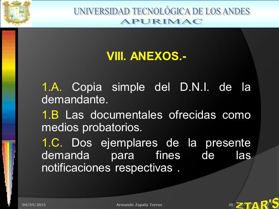 04/04/2015Armando Zapata Torres20 VIII. ANEXOS.- 1.A.