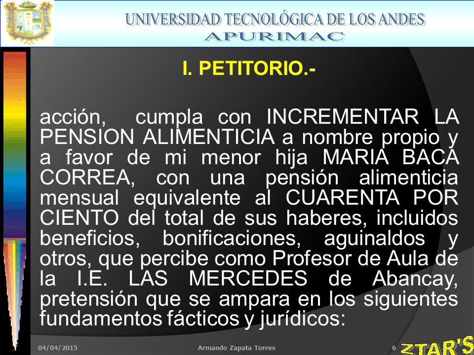04/04/2015Armando Zapata Torres6 I.