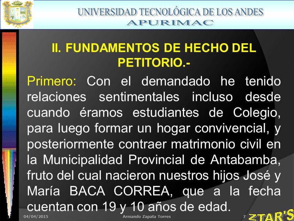 04/04/2015Armando Zapata Torres7 II.