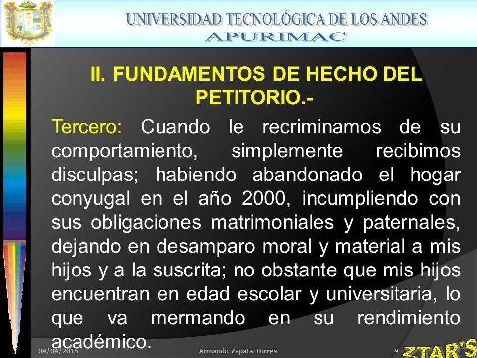 04/04/2015Armando Zapata Torres9 II.