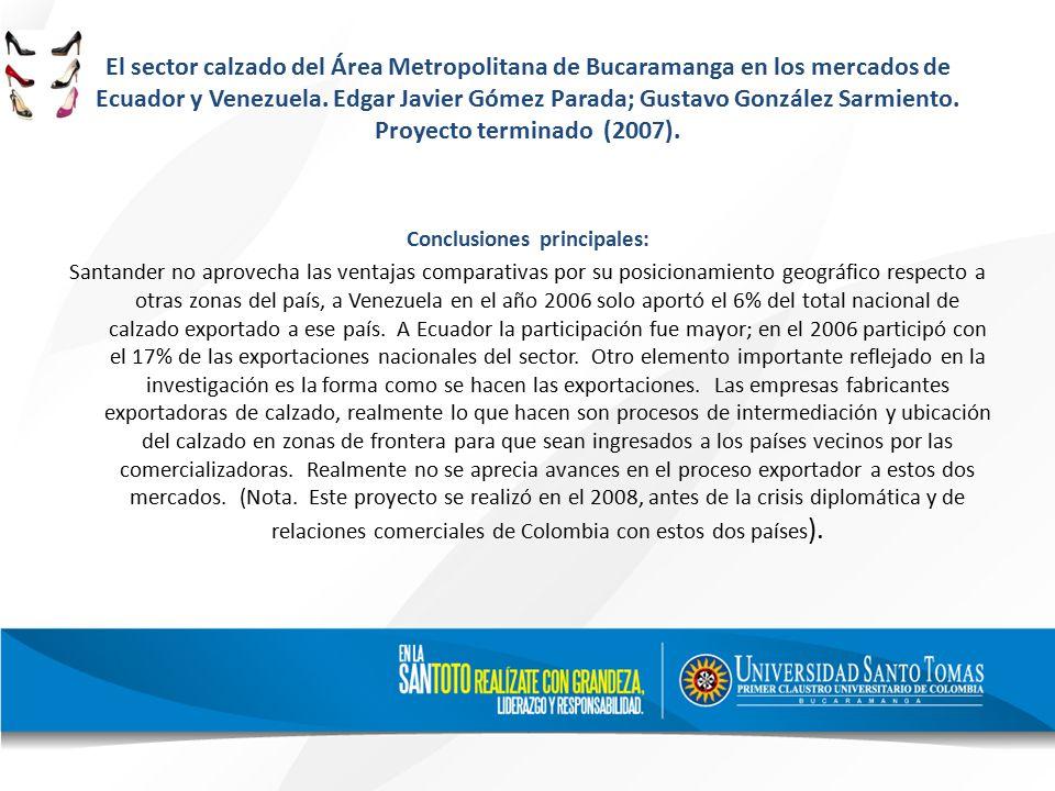 El sector calzado del Área Metropolitana de Bucaramanga en los mercados de Ecuador y Venezuela.