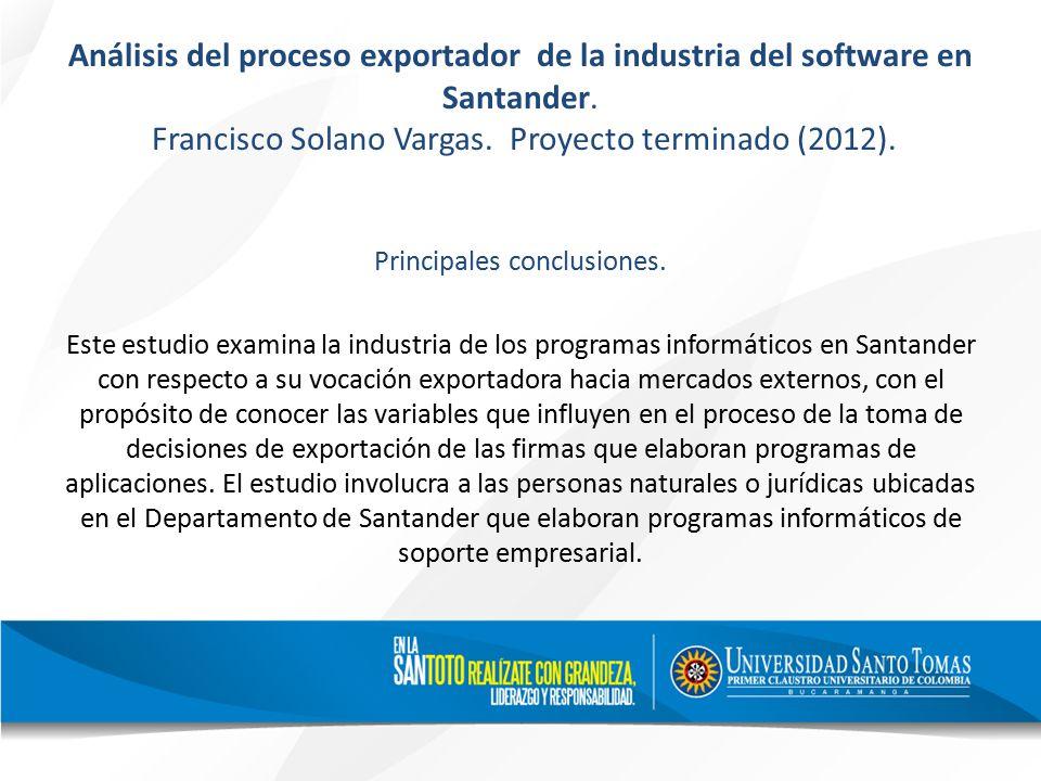 Análisis del proceso exportador de la industria del software en Santander.