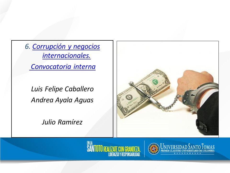 6. Corrupción y negocios internacionales.Corrupción y negocios internacionales.
