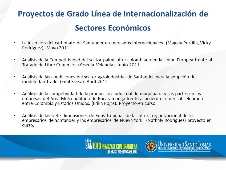 Proyectos de Grado Línea de Internacionalización de Sectores Económicos La inserción del carbonato de Santander en mercados internacionales.