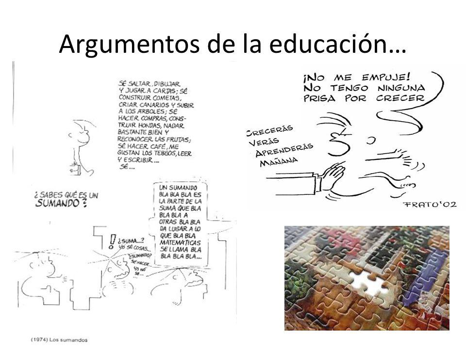 Argumentos de la educación…