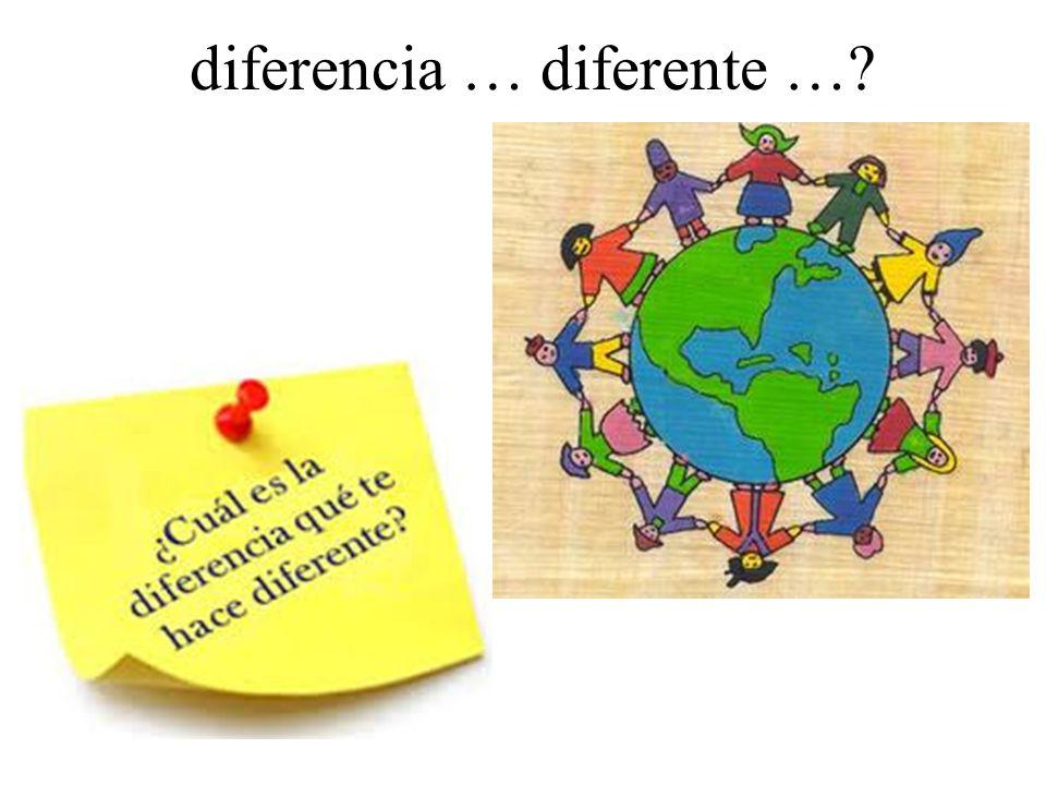 diferencia … diferente …