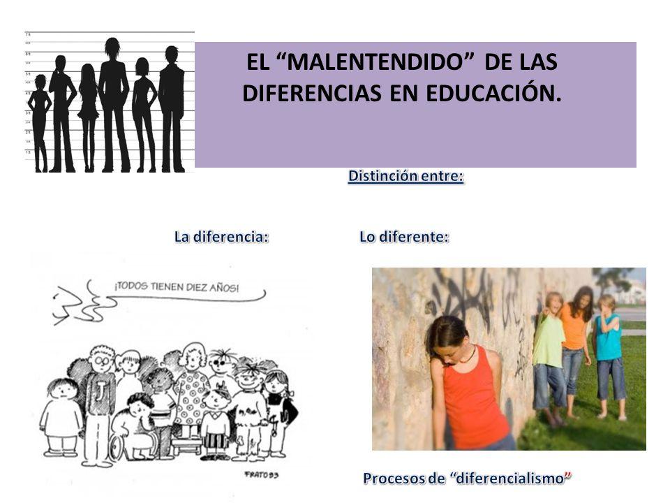 EL MALENTENDIDO DE LAS DIFERENCIAS EN EDUCACIÓN.