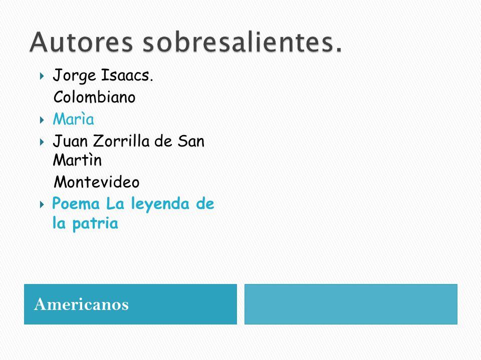 Americanos  Jorge Isaacs.