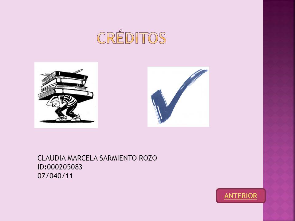 CLAUDIA MARCELA SARMIENTO ROZO ID:000205083 07/040/11
