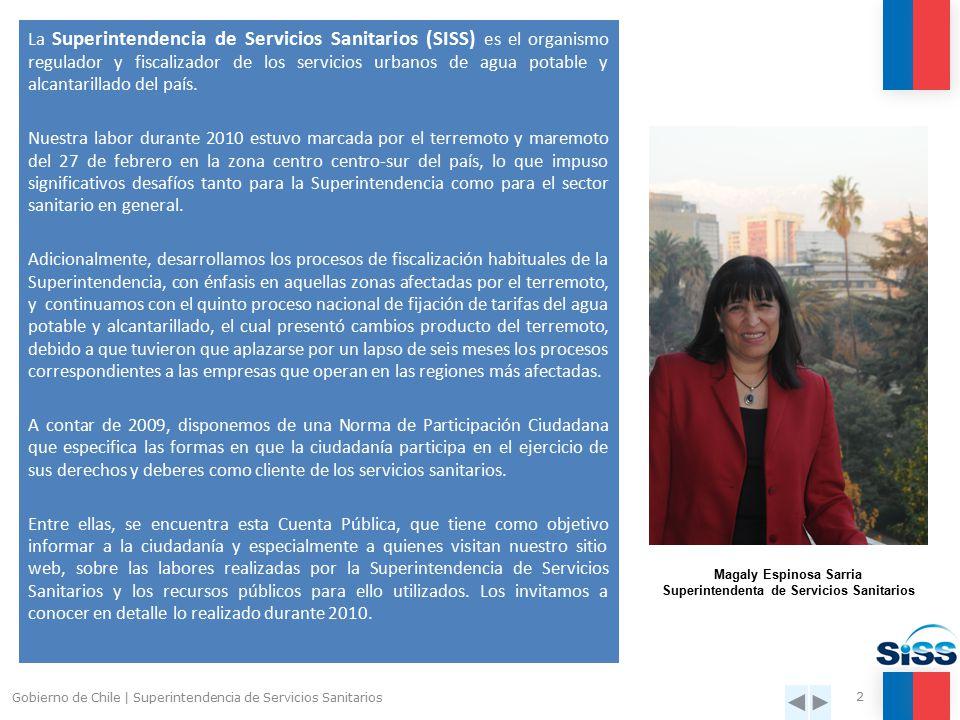 Cuenta Pública 2010 Superintendencia de Servicios Sanitarios Marzo 2011