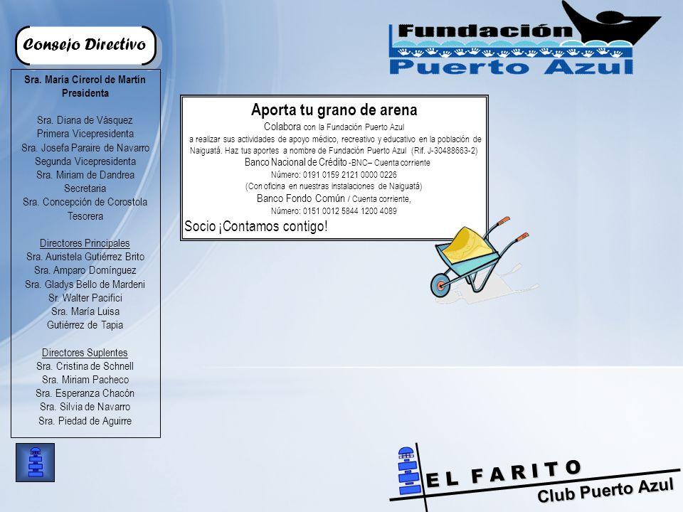 Club Puerto Azul E L F A R I T O Consejo Directivo Sra.