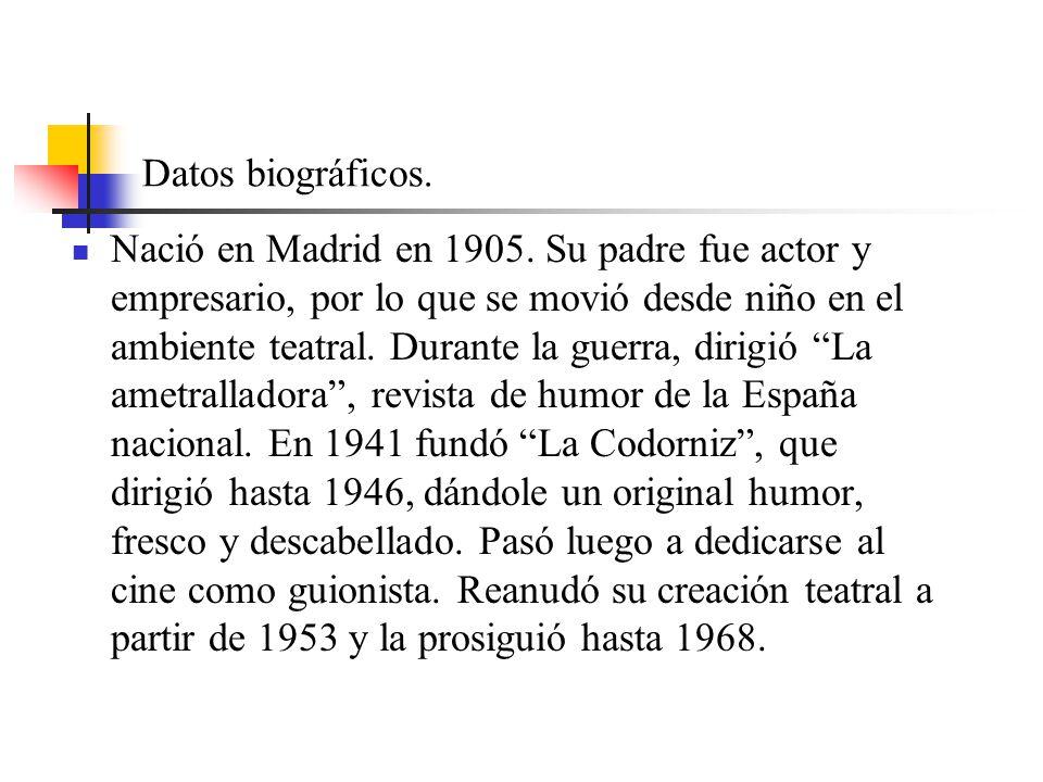 Datos biográficos. Nació en Madrid en 1905.