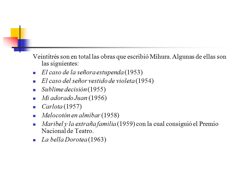 Veintitrés son en total las obras que escribió Mihura.