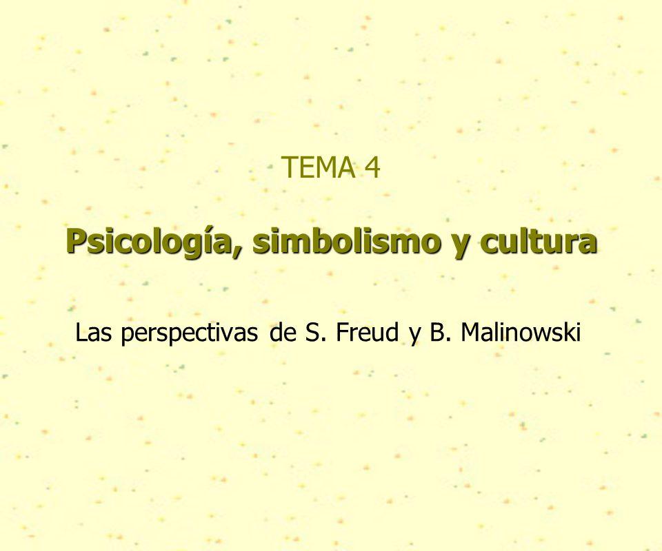 Psicología, simbolismo y cultura TEMA 4 Psicología, simbolismo y cultura Las perspectivas de S.