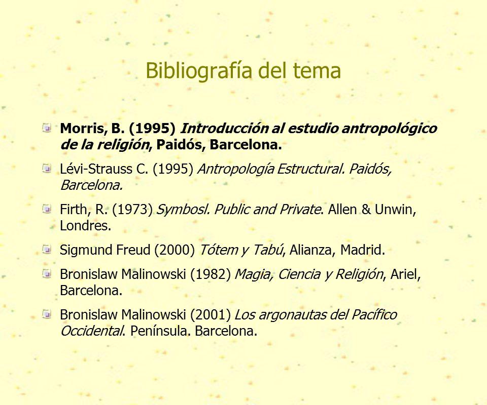 Bibliografía del tema Morris, B.
