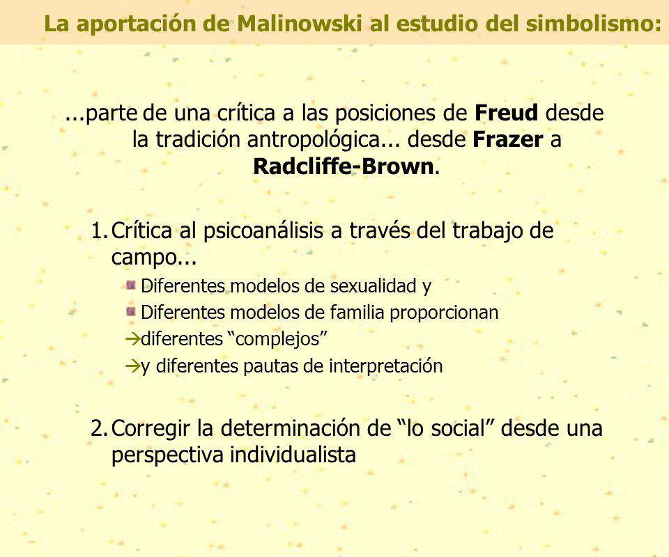 La aportación de Malinowski al estudio del simbolismo:...parte de una crítica a las posiciones de Freud desde la tradición antropológica...