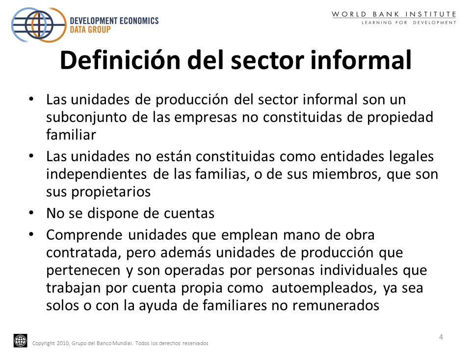 Copyright 2010, Grupo del Banco Mundial.