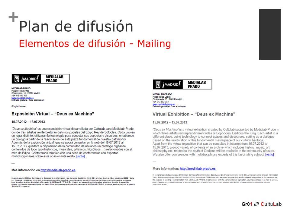 + Plan de difusión Elementos de difusión - Mailing Gr01 //// CultuLab