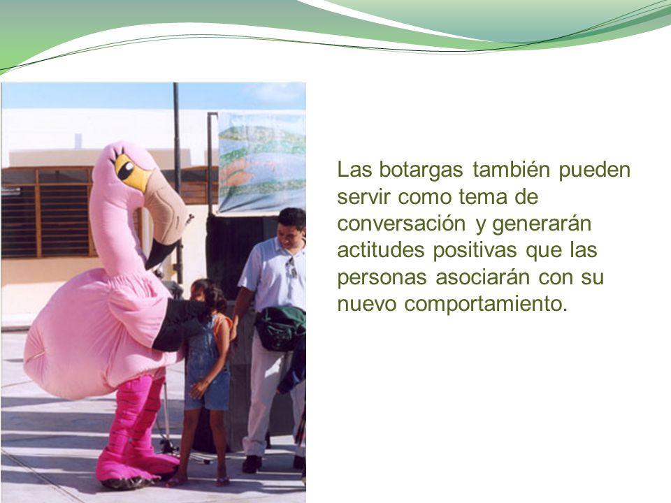 Las botargas también pueden servir como tema de conversación y generarán actitudes positivas que las personas asociarán con su nuevo comportamiento.