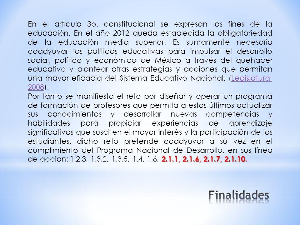 En el artículo 3o. constitucional se expresan los fines de la educación.