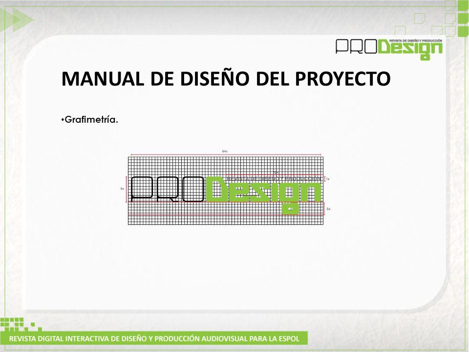 MANUAL DE DISEÑO DEL PROYECTO Grafimetría.