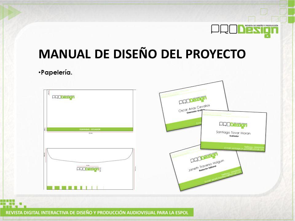 MANUAL DE DISEÑO DEL PROYECTO Papelería.