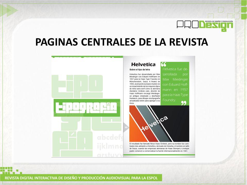 PAGINAS CENTRALES DE LA REVISTA