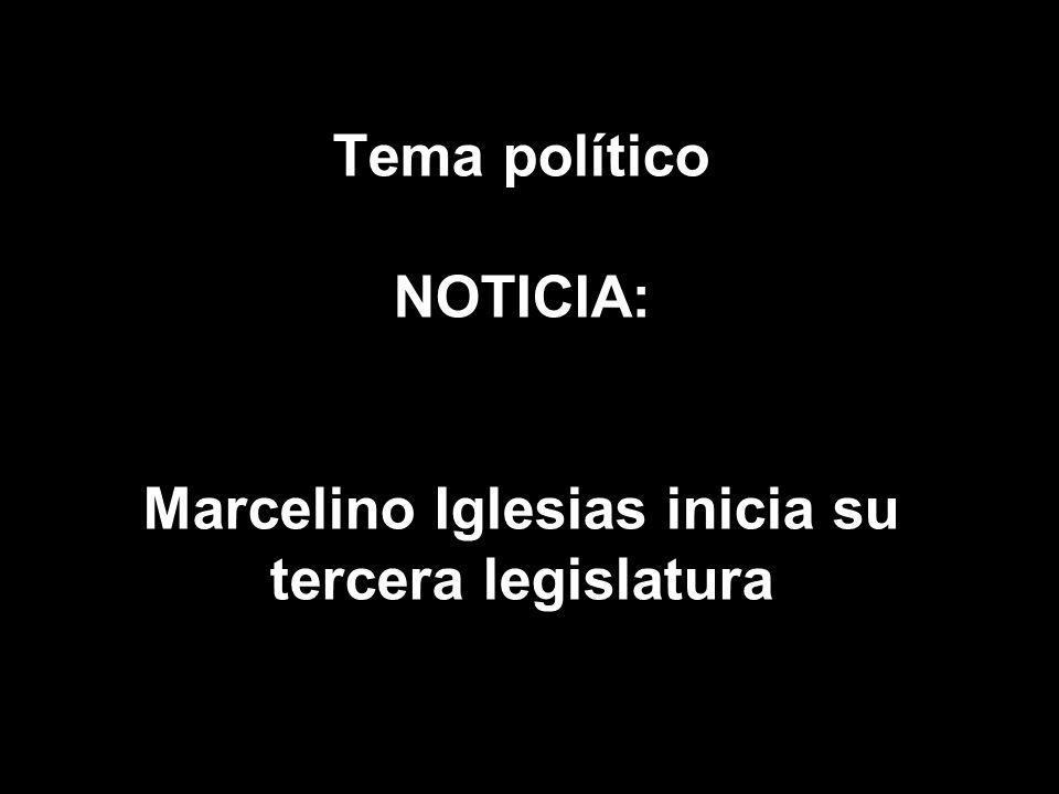 Tema político NOTICIA: Marcelino Iglesias inicia su tercera legislatura