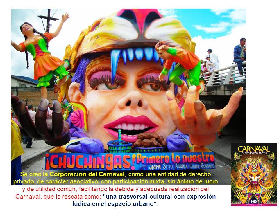 En noviembre del 2001, mediante la Ley No 706, el Carnaval de Negros y Blancos fue declarado Patrimonio cultural de la Nación por el Congreso de la República de Colombia, con tal declaratoria, tomó prioridad la construcción de la Plaza del Carnaval y la Cultura, incluida la señalización de la Senda del Carnaval2001 ColombiaPlaza del Carnaval y la Cultura