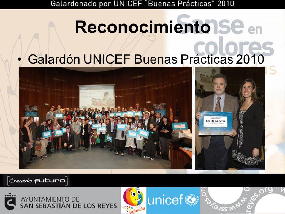 Reconocimiento Galardón UNICEF Buenas Prácticas 2010