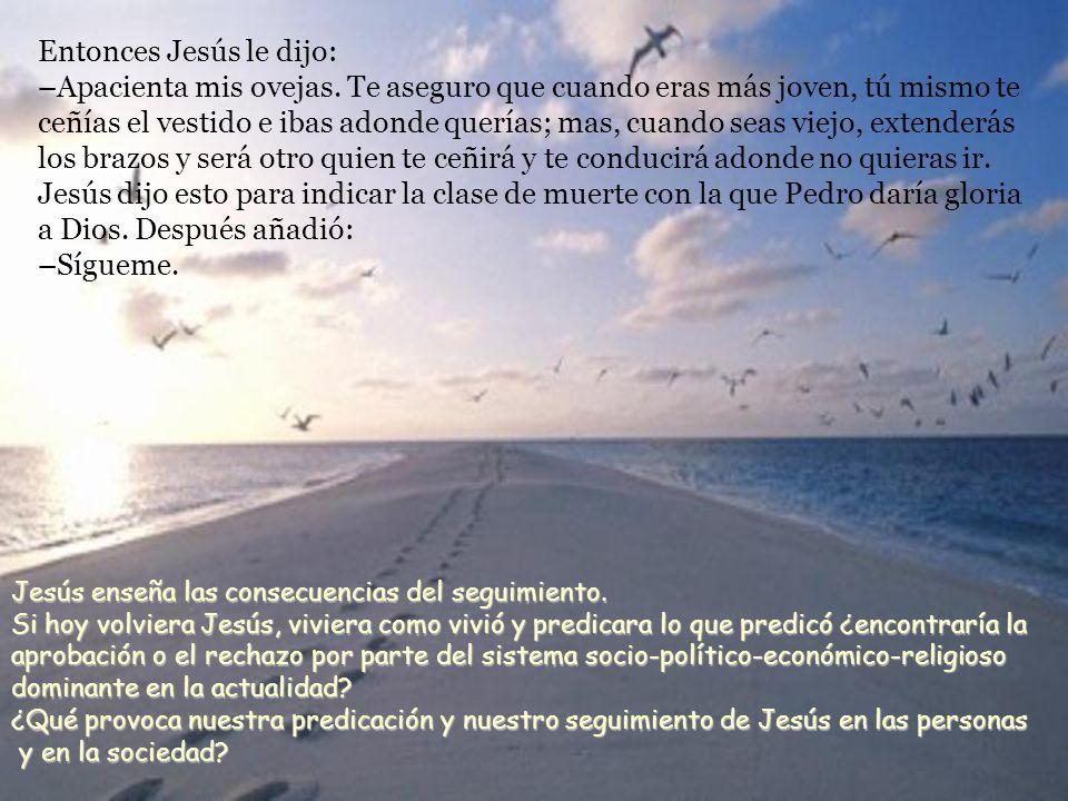 Jesús volvió a preguntarle: –Simón, hijo de Juan, ¿me amas.