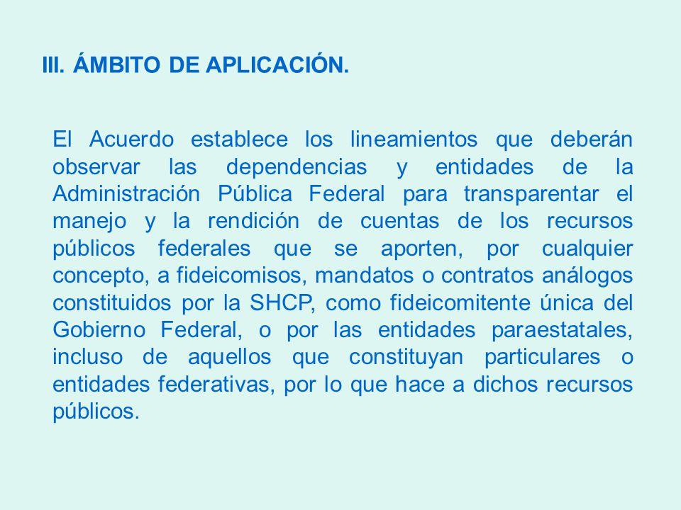 III. ÁMBITO DE APLICACIÓN.